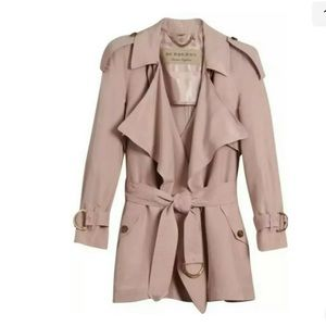 BURBERRY Pink Silk Trench Coat US 6 $1995+tax